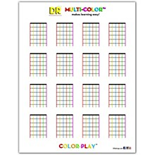 DR Strings Color Play Color Chord Chart Sheet - 50 Sheets per Pad