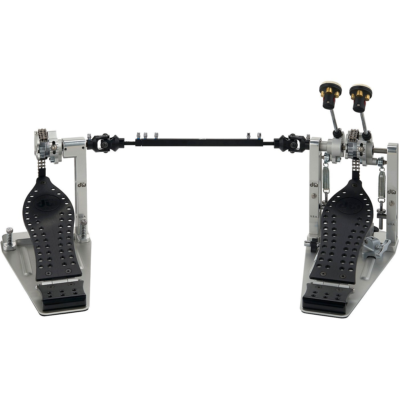 DW Colorboard Machined Chain Drive Double Bass Drum Pedal with Black Footboard thumbnail