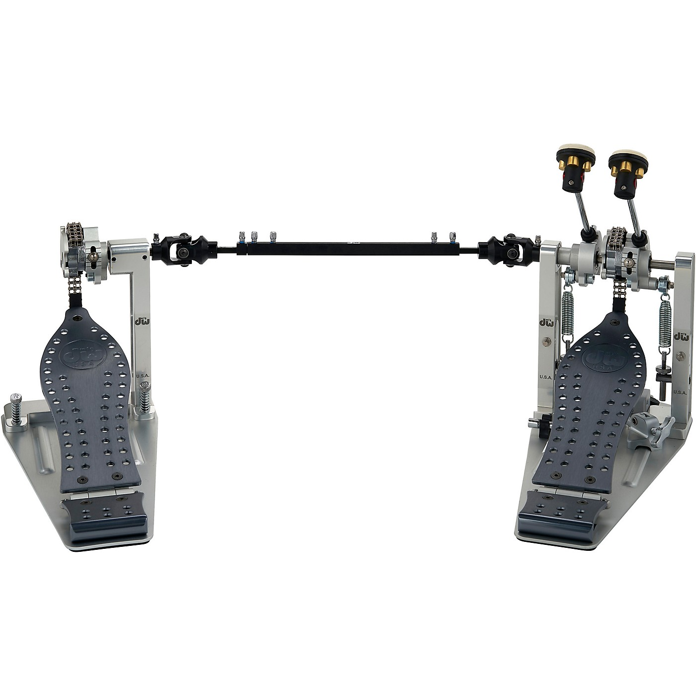 DW Colorboard Machined Chain Drive Double Bass Drum Pedal with Gray Footboard thumbnail