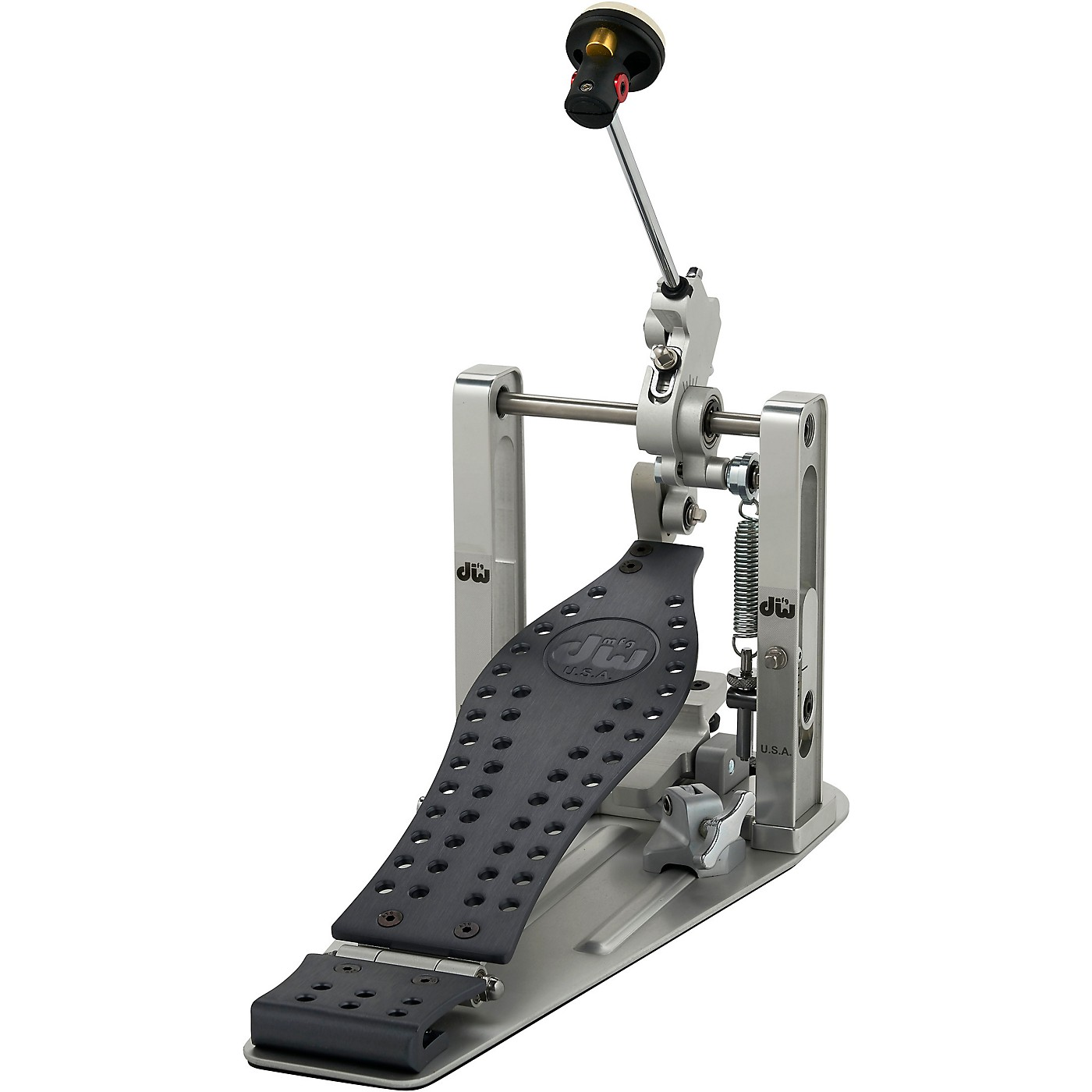 DW Colorboard Machined Direct Drive Single Bass Drum Pedal with Gray Footboard thumbnail