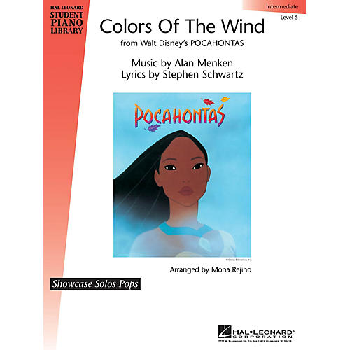 Hal Leonard Colors of the Wind Piano Library Series by Alan Menken (Level Inter) thumbnail