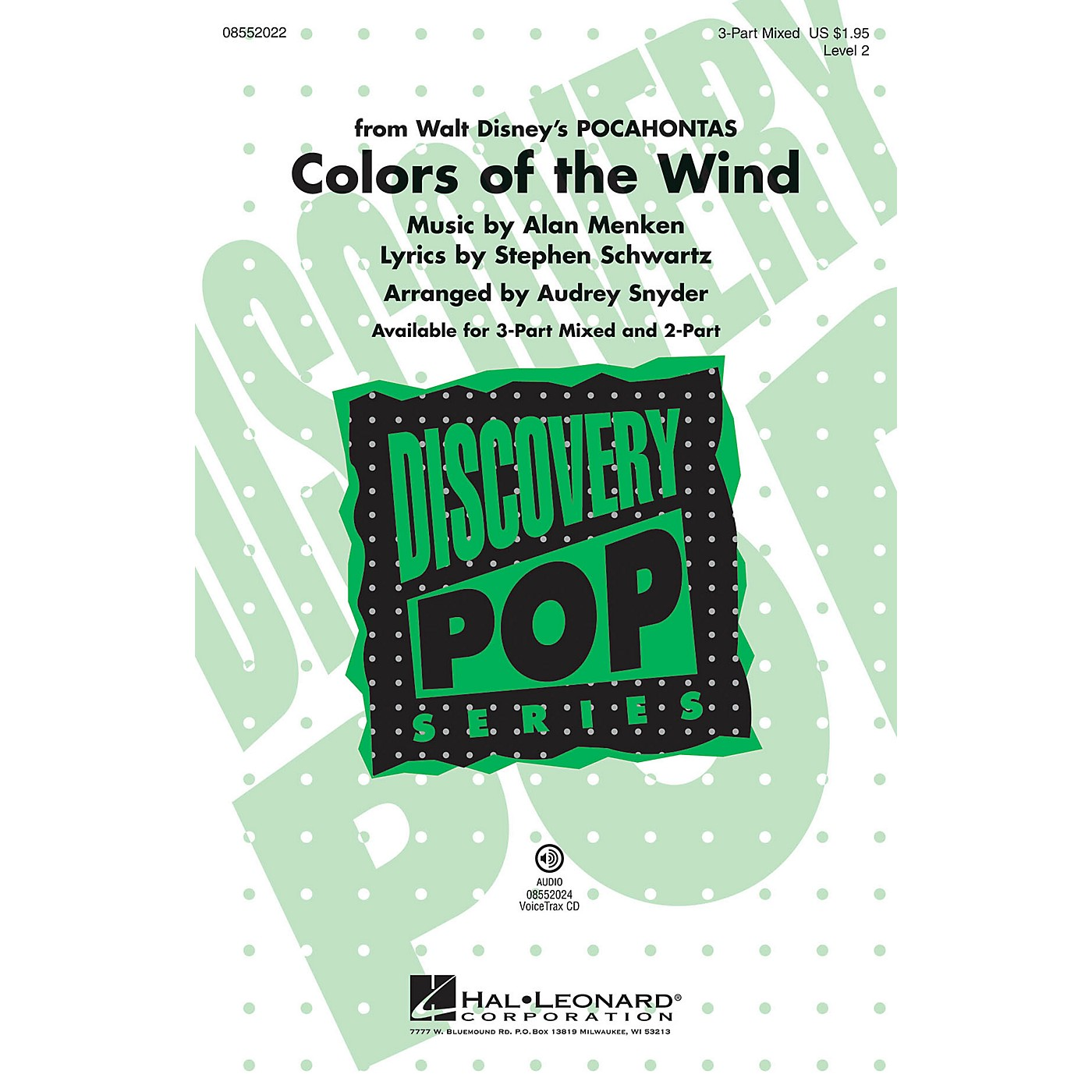 Hal Leonard Colors of the Wind (from Pocahontas) VoiceTrax CD Arranged by Audrey Snyder thumbnail