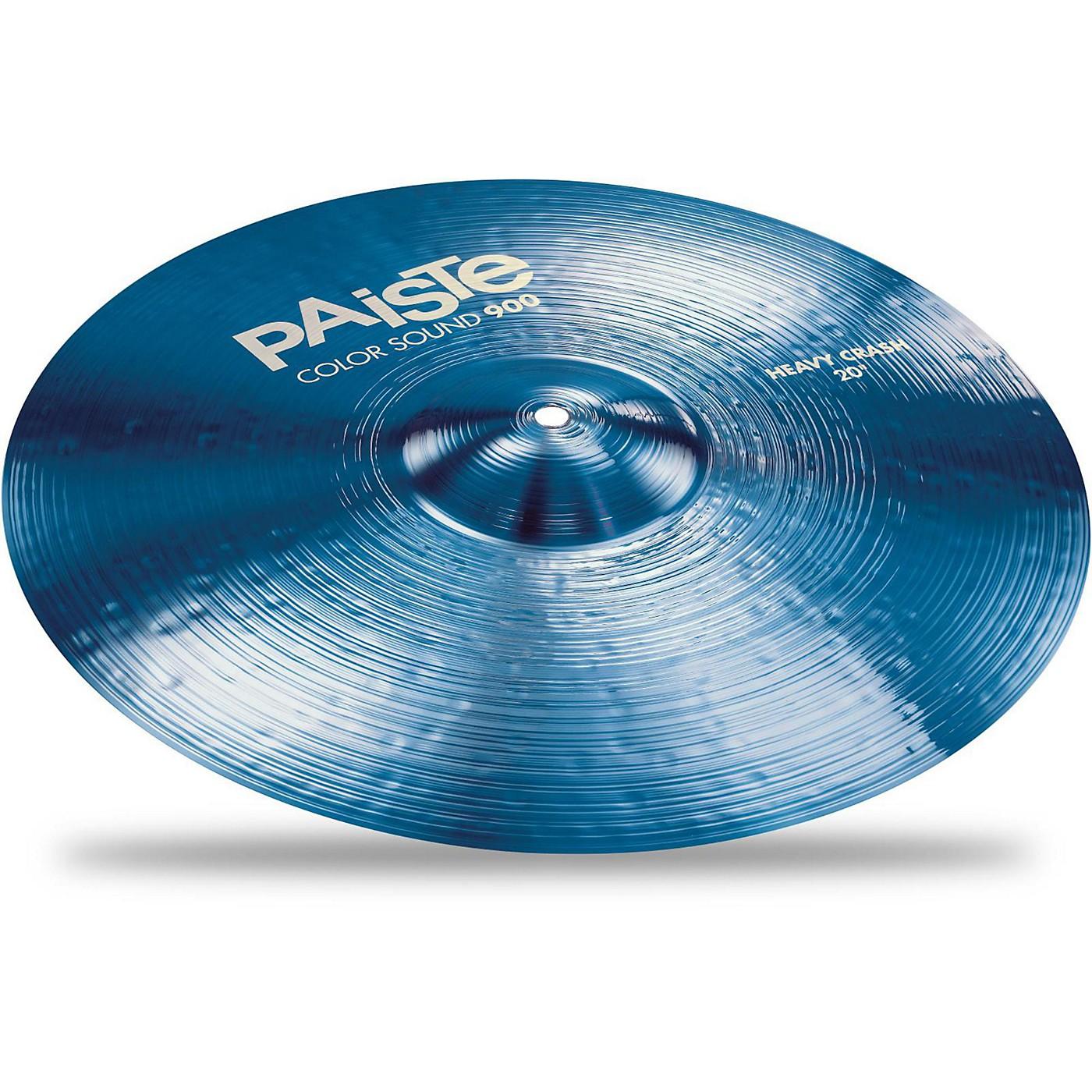 Paiste Colorsound 900 Heavy Crash Cymbal Blue thumbnail