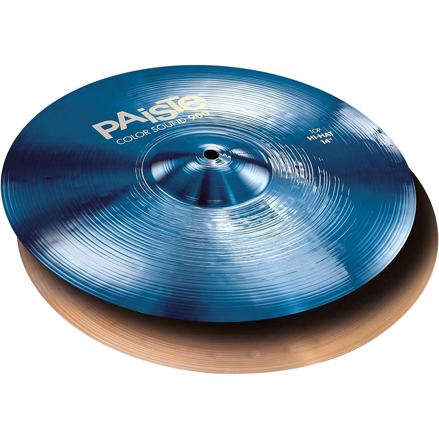 Paiste Colorsound 900 Hi Hat Cymbal Blue thumbnail
