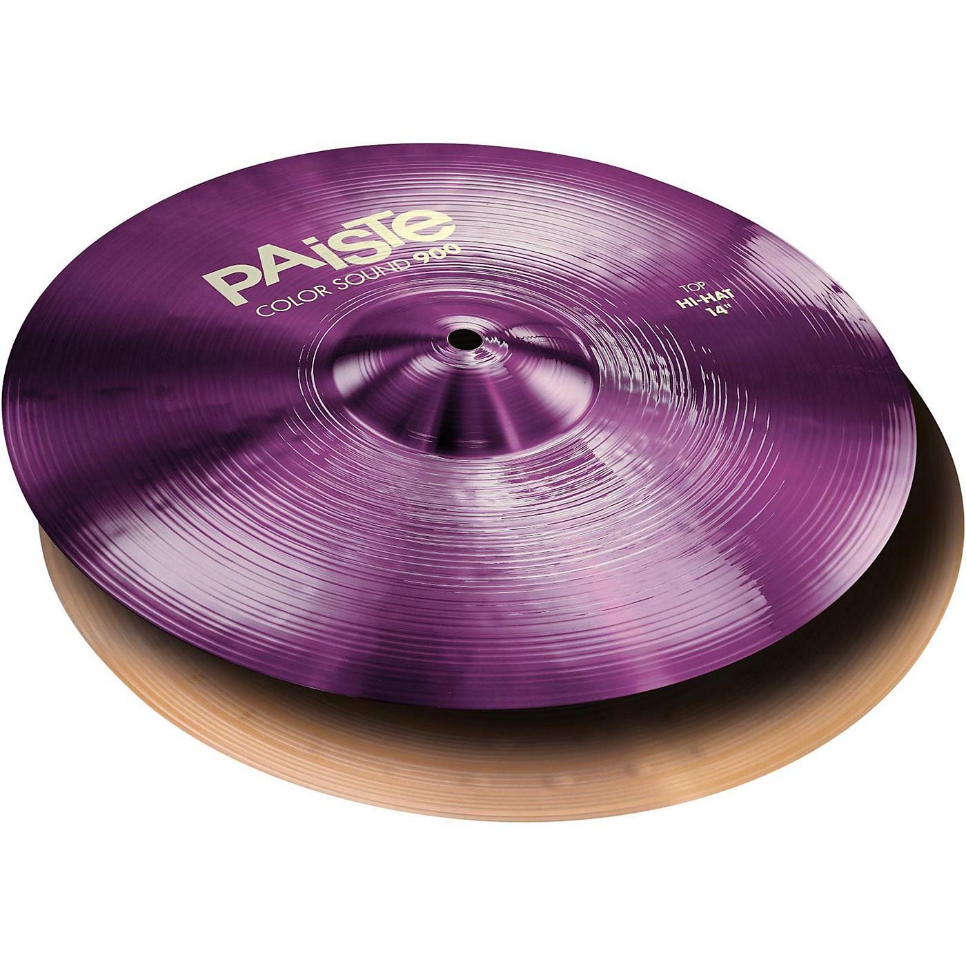 Paiste Colorsound 900 Hi Hat Cymbal Purple thumbnail