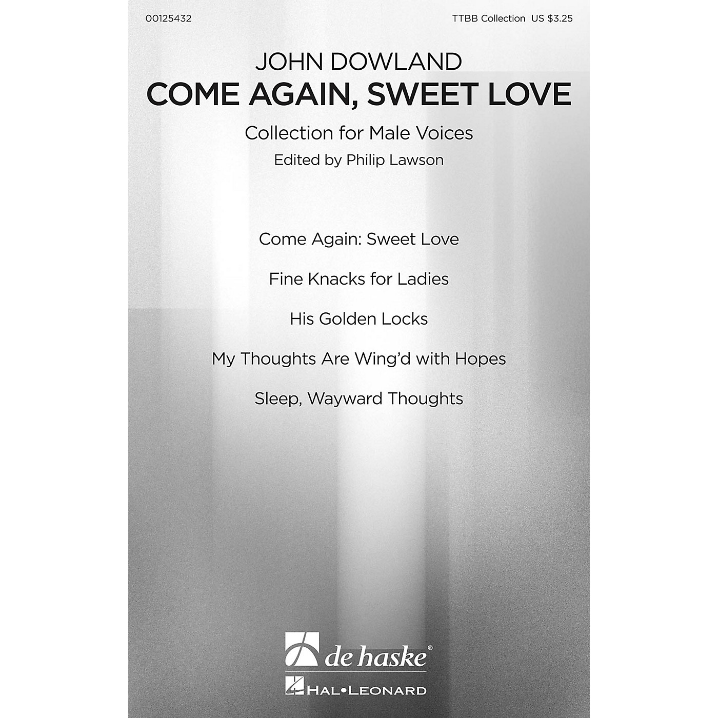 De Haske Music Come Again, Sweet Love (Collection for Male Voices) TTBB Collection composed by John Dowland thumbnail