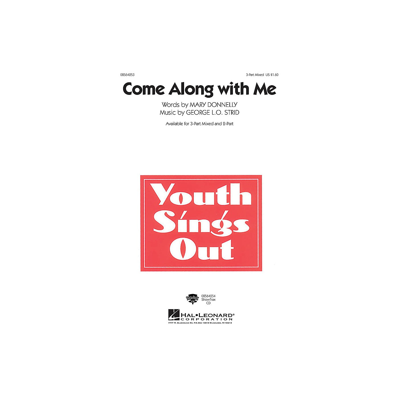 Hal Leonard Come Along with Me 3-Part Mixed composed by Mary Donnelly thumbnail