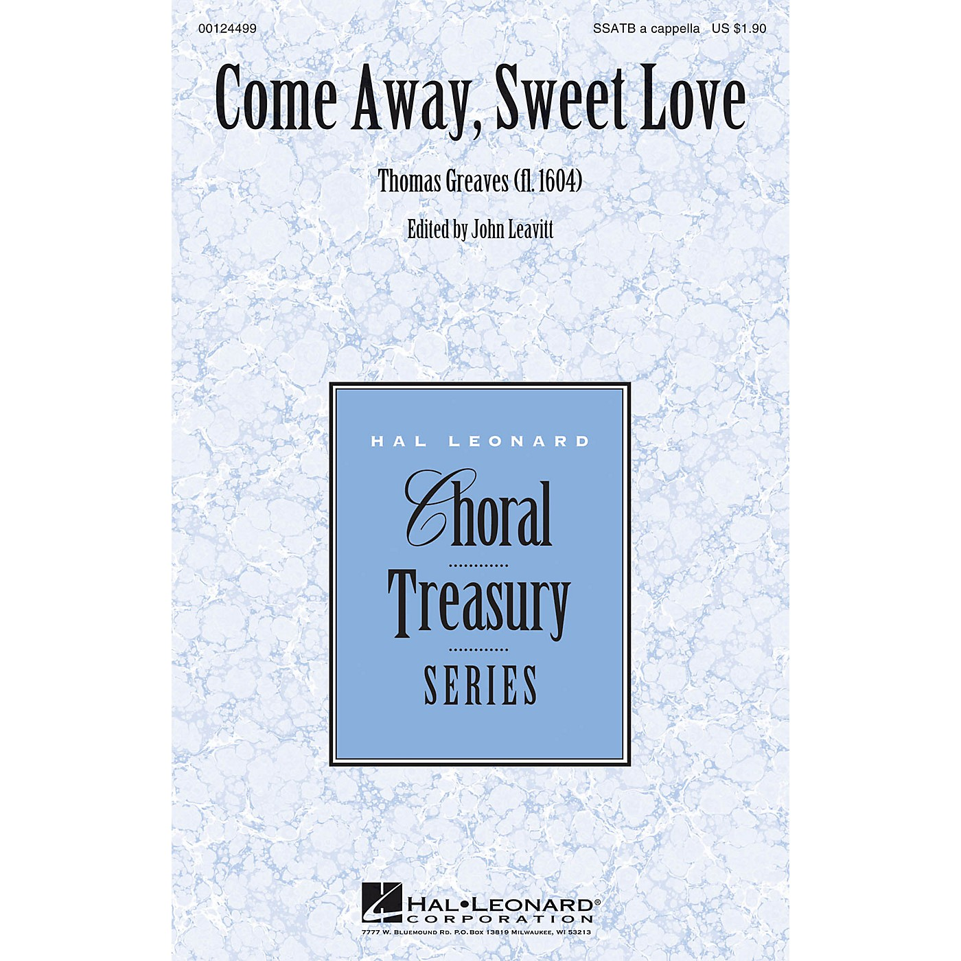 Hal Leonard Come Away, Sweet Love SSATB A Cappella composed by Thomas Greaves thumbnail