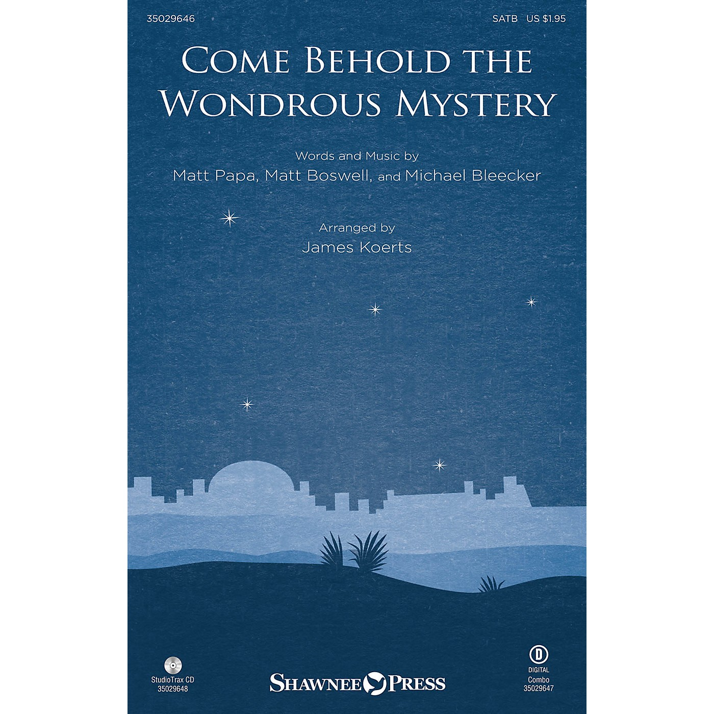 Shawnee Press Come Behold the Wondrous Mystery Studiotrax CD Arranged by James Koerts thumbnail