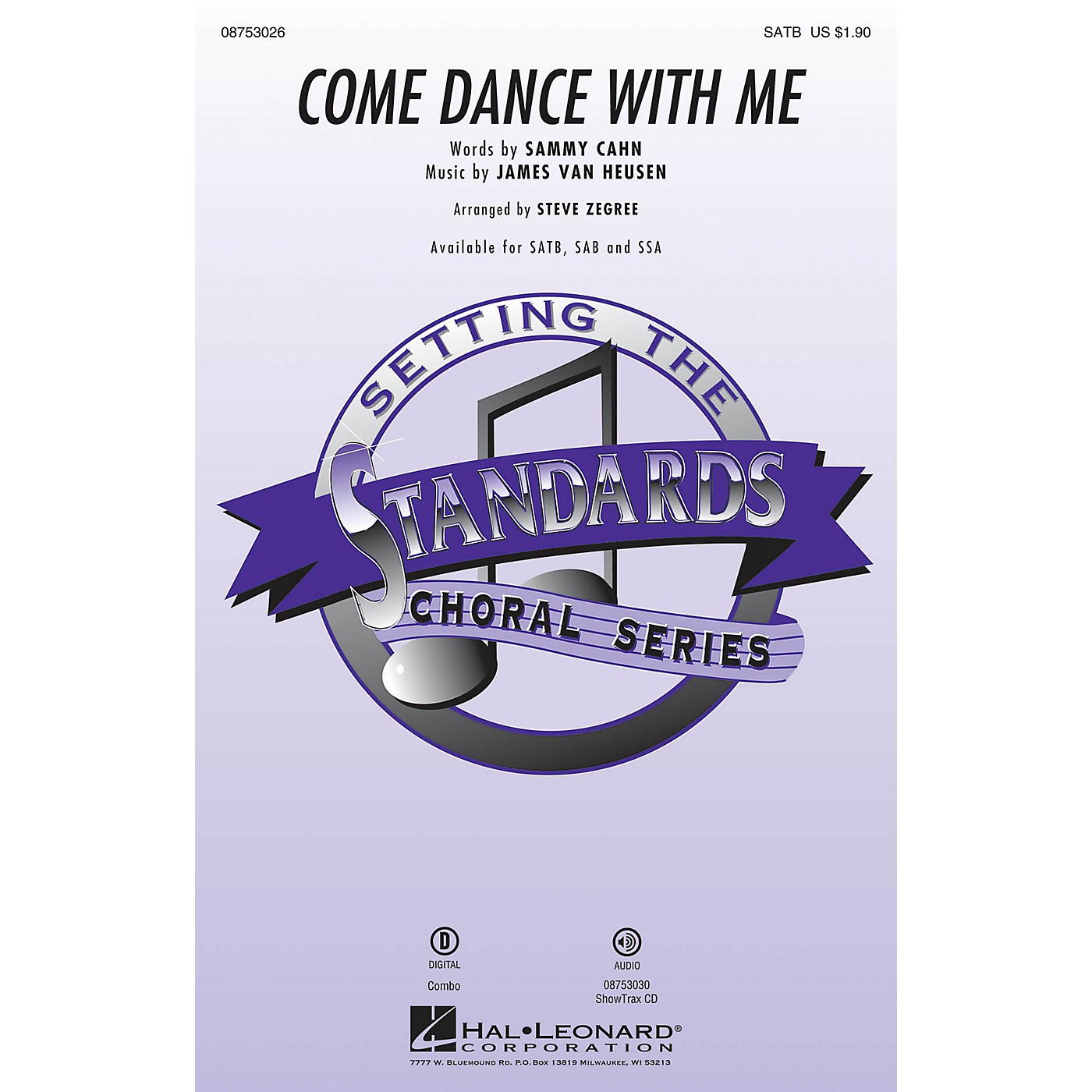 Hal Leonard Come Dance with Me ShowTrax CD by Frank Sinatra Arranged by Steve Zegree thumbnail