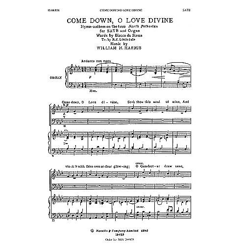 Novello Come Down, O Love Divine SATB Composed by William H. Harris thumbnail