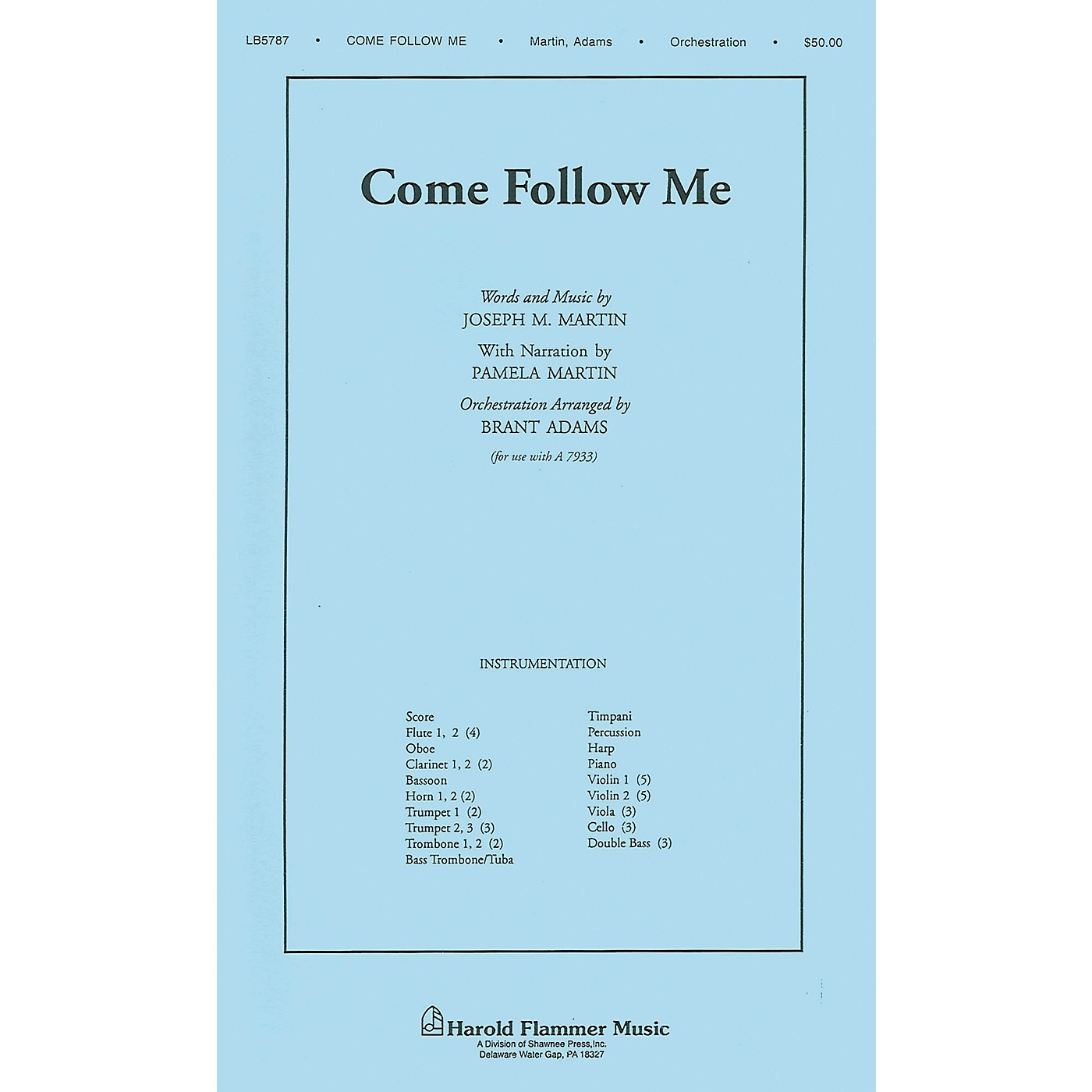 Shawnee Press Come Follow Me (from A Time for Alleluia) Score & Parts arranged by Brant Adams thumbnail