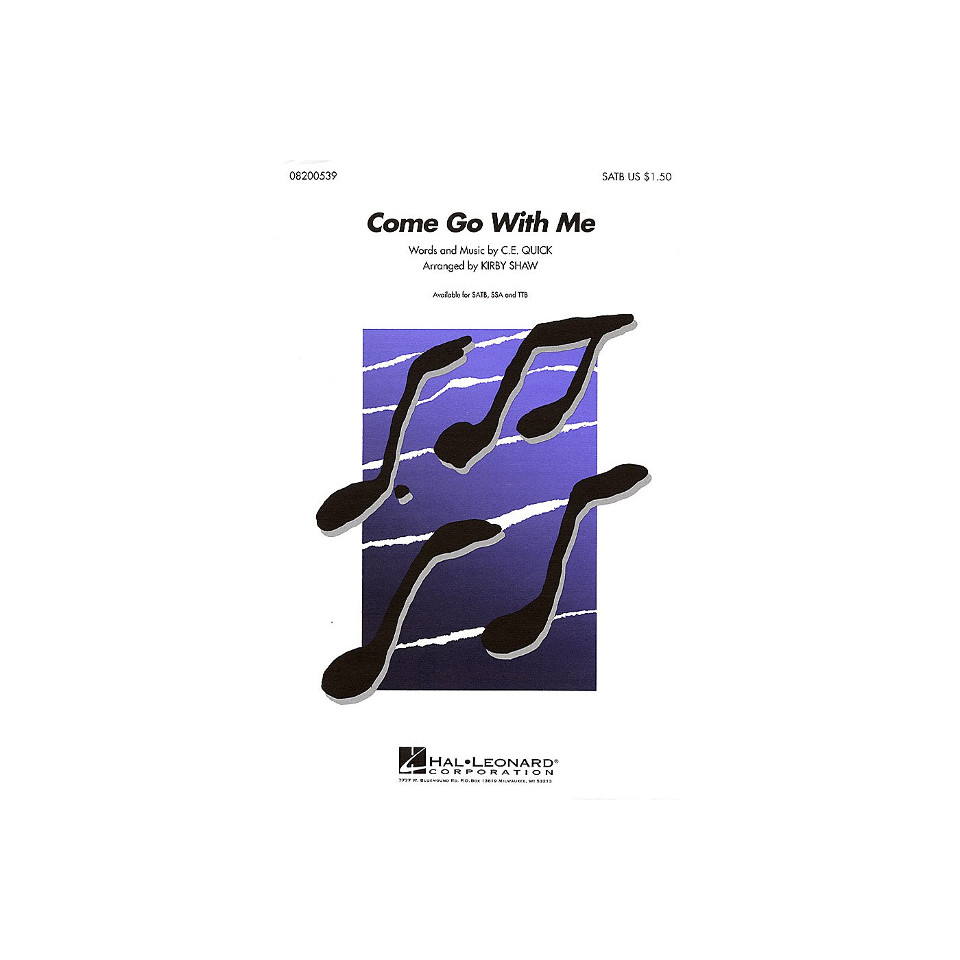 Hal Leonard Come Go with Me TTB A Cappella Arranged by Kirby Shaw thumbnail