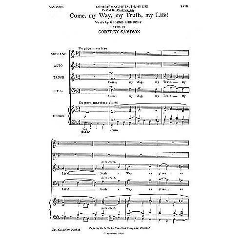 Novello Come My Way, My Truth, My Life SATB Composed by Godfrey Sampson thumbnail