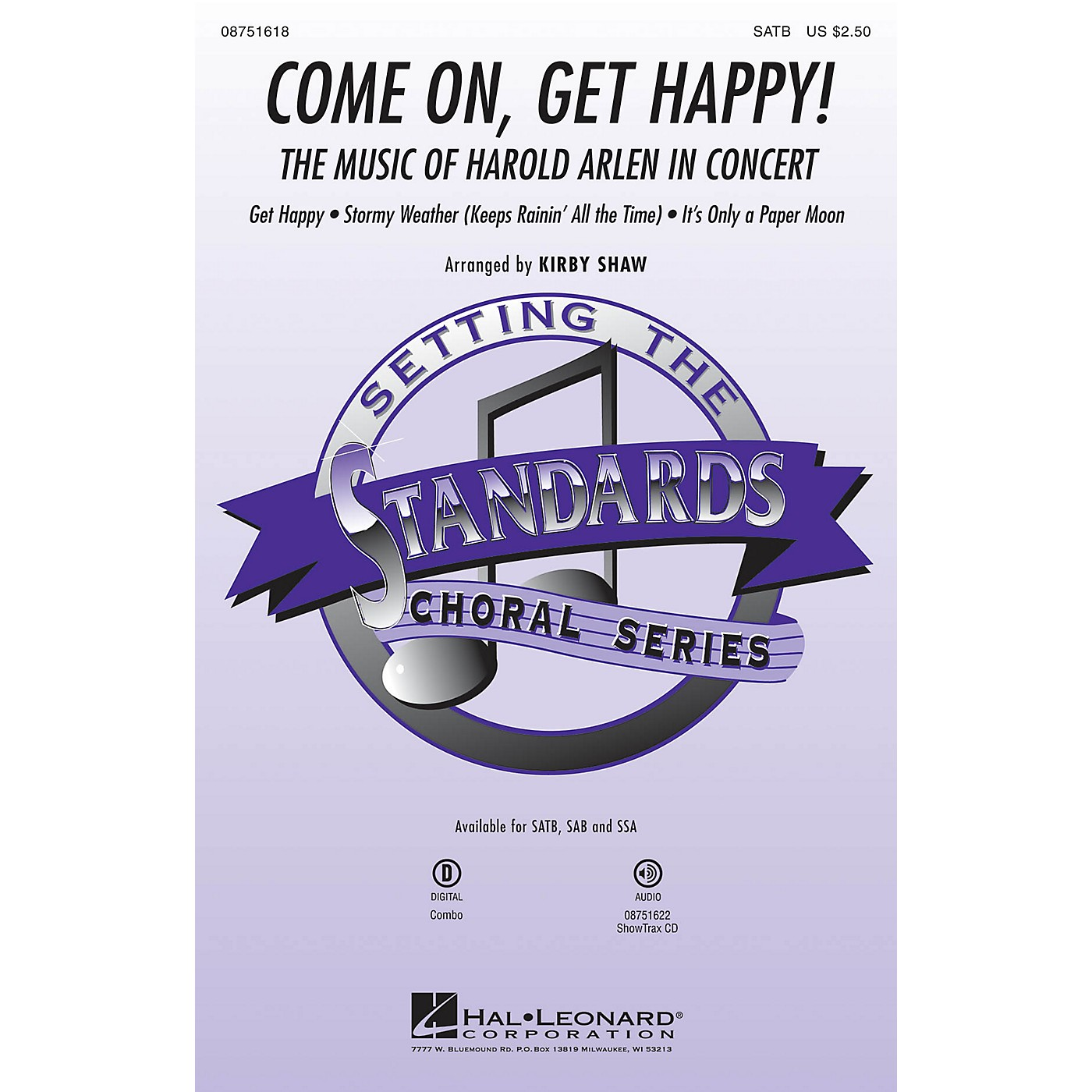 Hal Leonard Come On, Get Happy! (The Music of Harold Arlen in Concert) SATB arranged by Kirby Shaw thumbnail