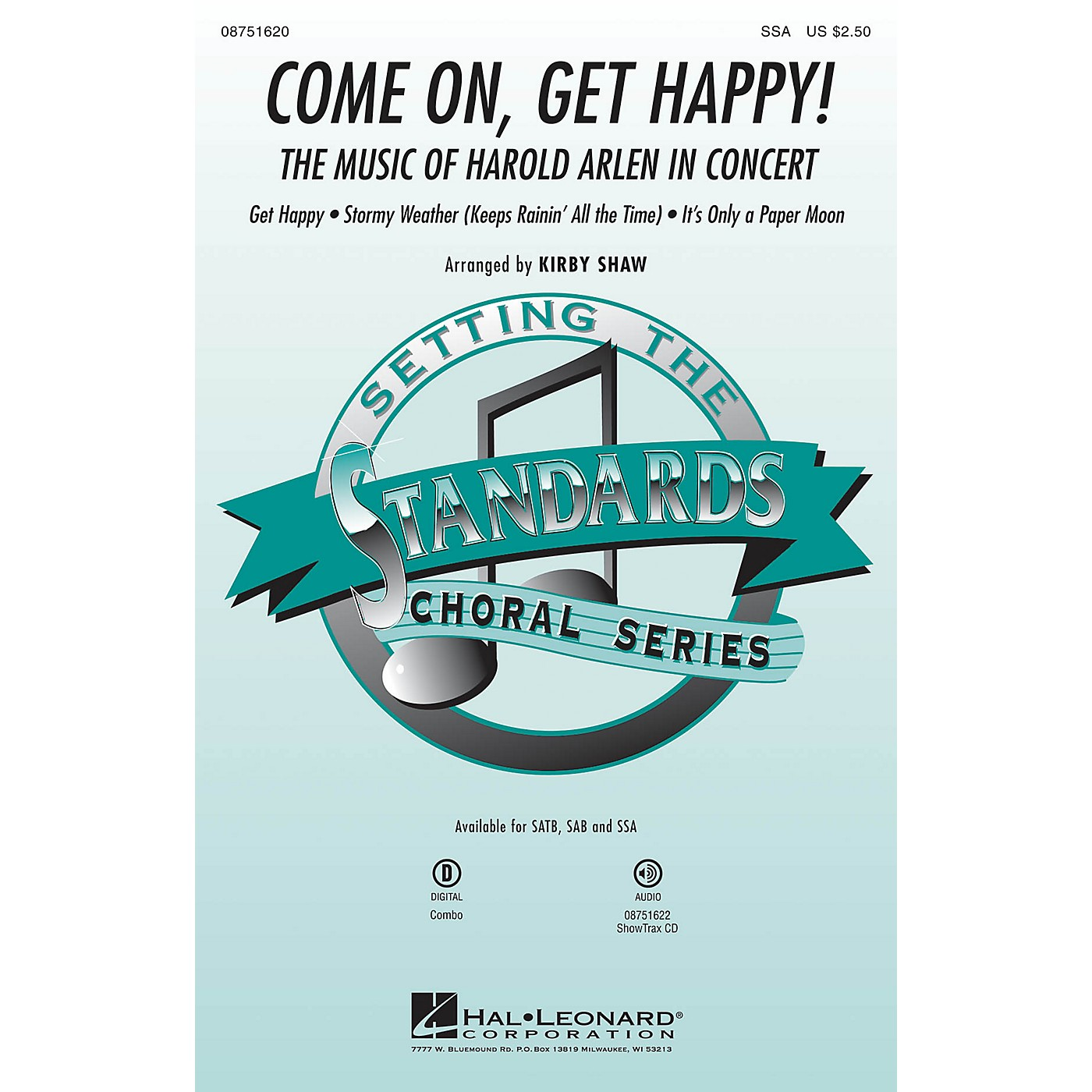 Hal Leonard Come On, Get Happy! (The Music of Harold Arlen in Concert) SSA arranged by Kirby Shaw thumbnail