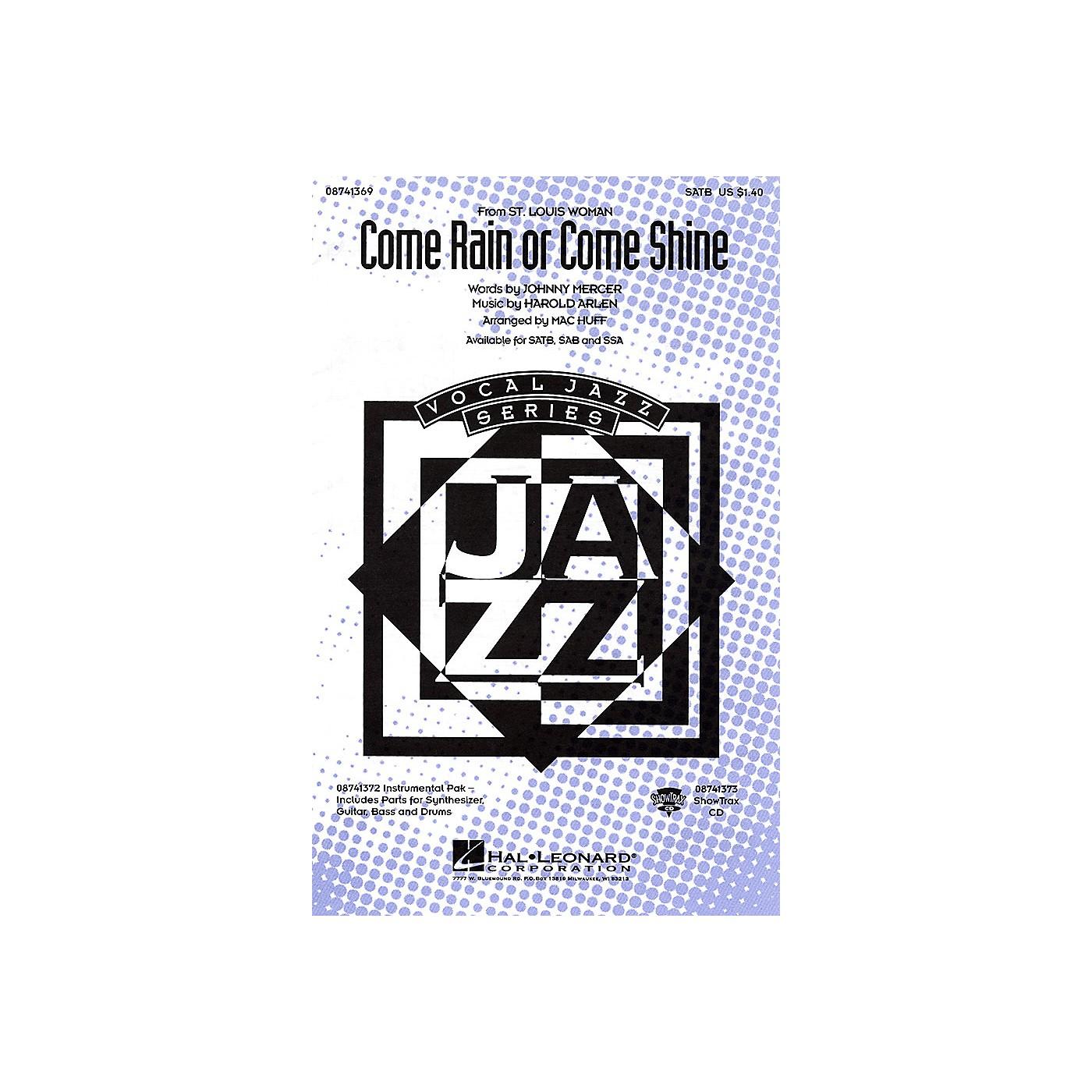 Hal Leonard Come Rain or Come Shine SATB arranged by Mac Huff thumbnail