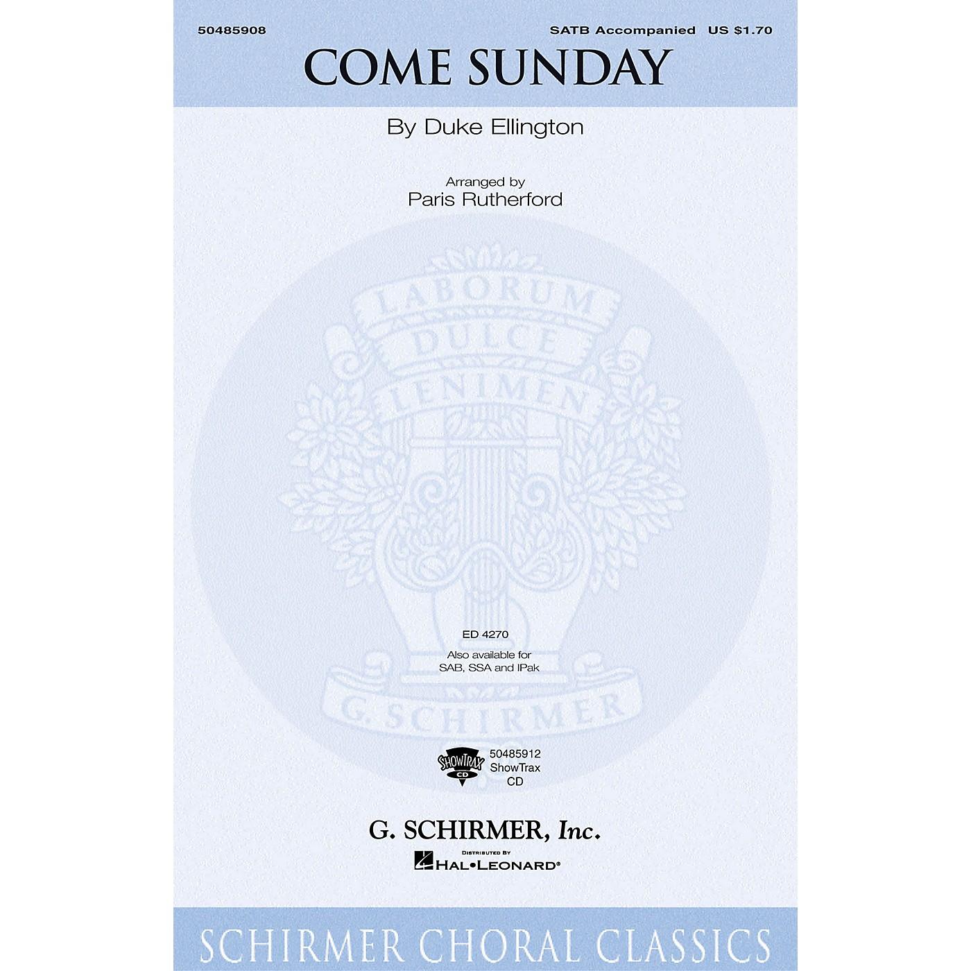 G. Schirmer Come Sunday (Instrumental Pak) IPAKO Arranged by Paris Rutherford thumbnail