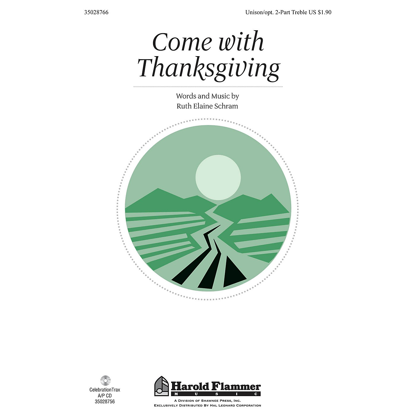 Shawnee Press Come With Thanksgiving Unison/2-Part Treble composed by Ruth Elaine Schram thumbnail