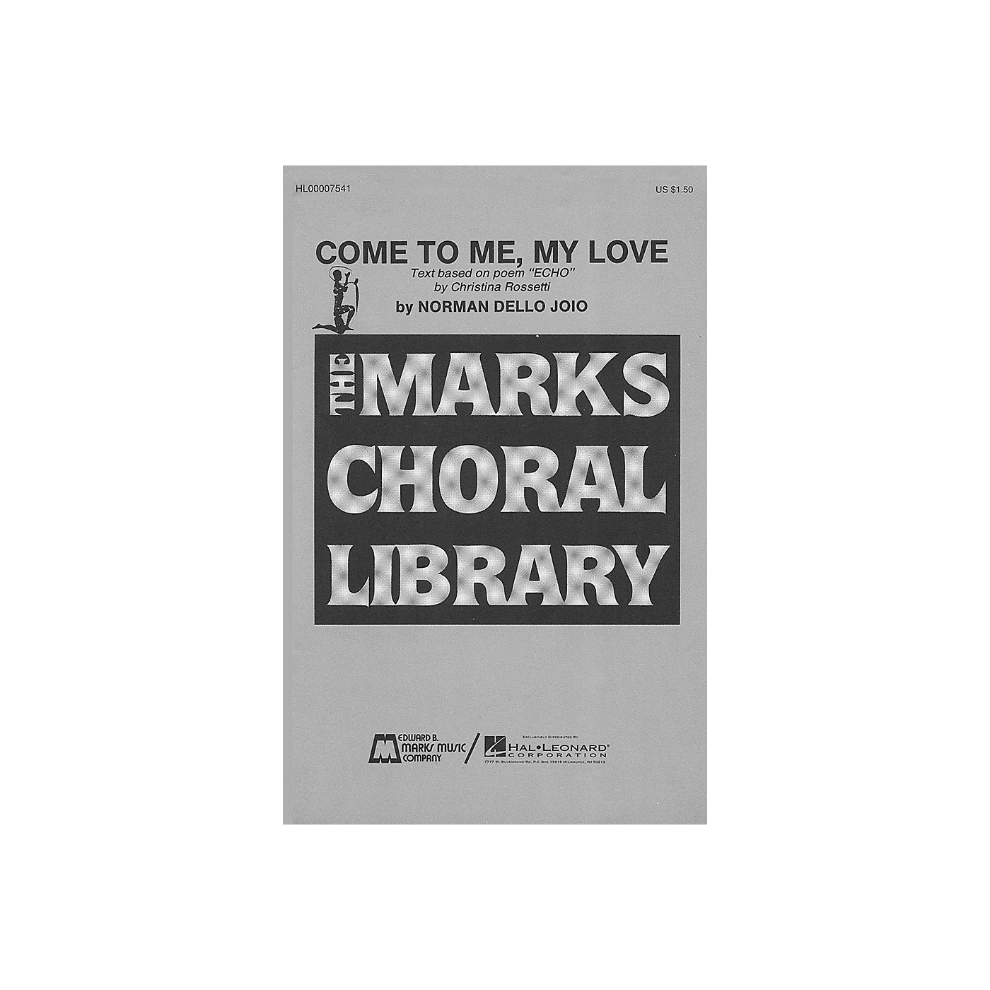 Edward B. Marks Music Company Come to Me, My Love SATB composed by Norman Dello Joio thumbnail