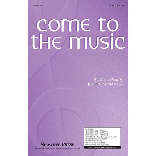 Shawnee Press Come to the Music SAB composed by Joseph Martin thumbnail