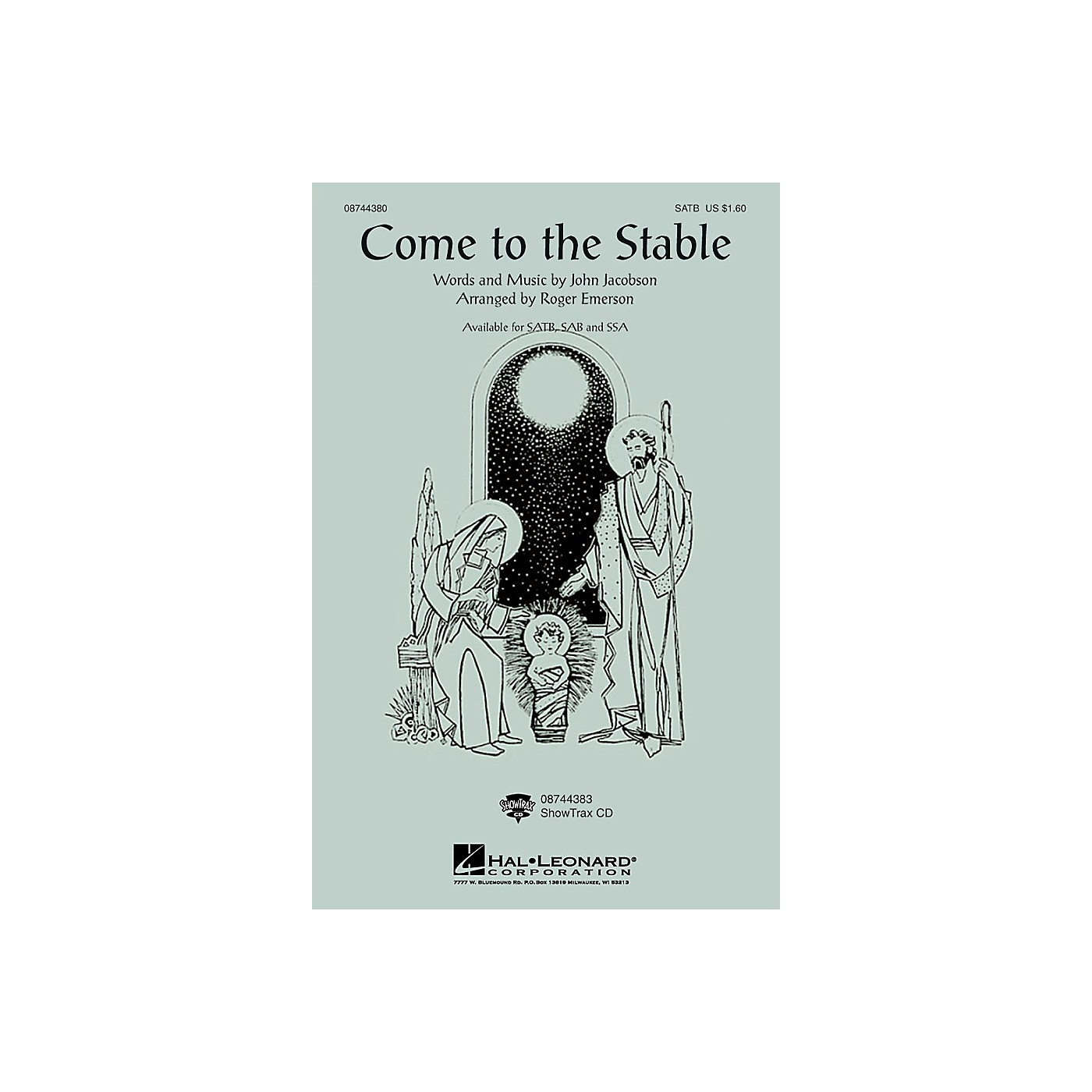 Hal Leonard Come to the Stable SSA Arranged by Roger Emerson thumbnail