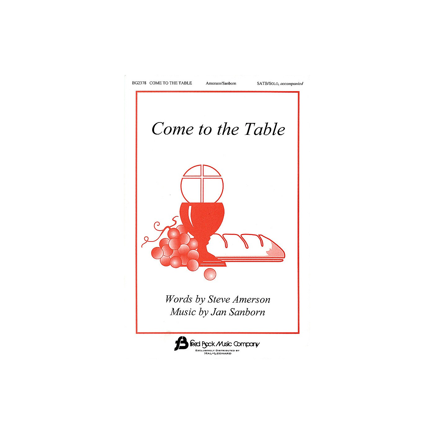 Fred Bock Music Come to the Table SATB composed by Steve Amerson thumbnail