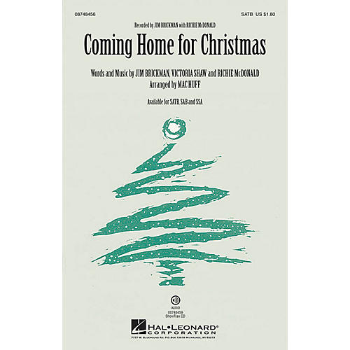 Hal Leonard Coming Home for Christmas SAB by Jim Brickman Arranged by Mac Huff thumbnail