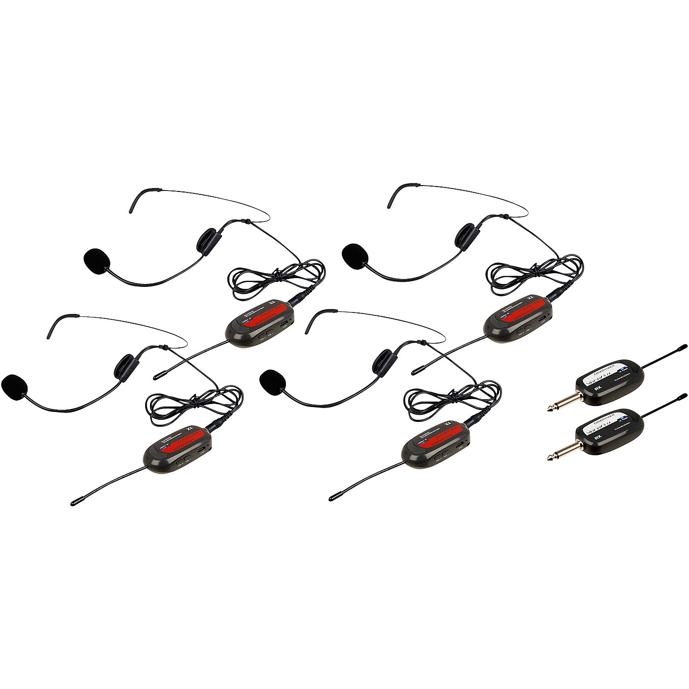 Vocopro Commander-Play-4 4 UHF Wireless Headset Mics with Receivers thumbnail