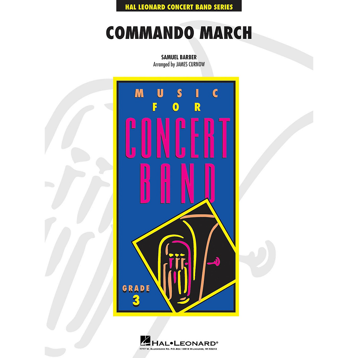 Hal Leonard Commando March - Young Concert Band Level 3 composed by Samuel Barber arranged by Curnow thumbnail