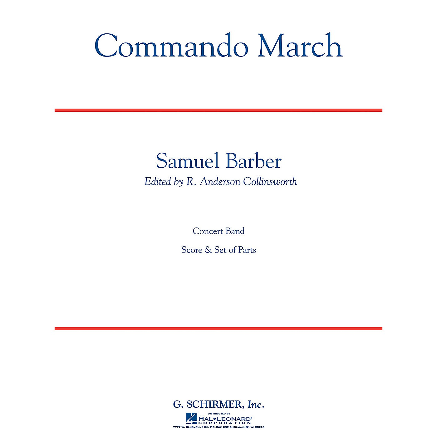 G. Schirmer Commando March Bd Sc C Concert Band Composed by S Barber thumbnail