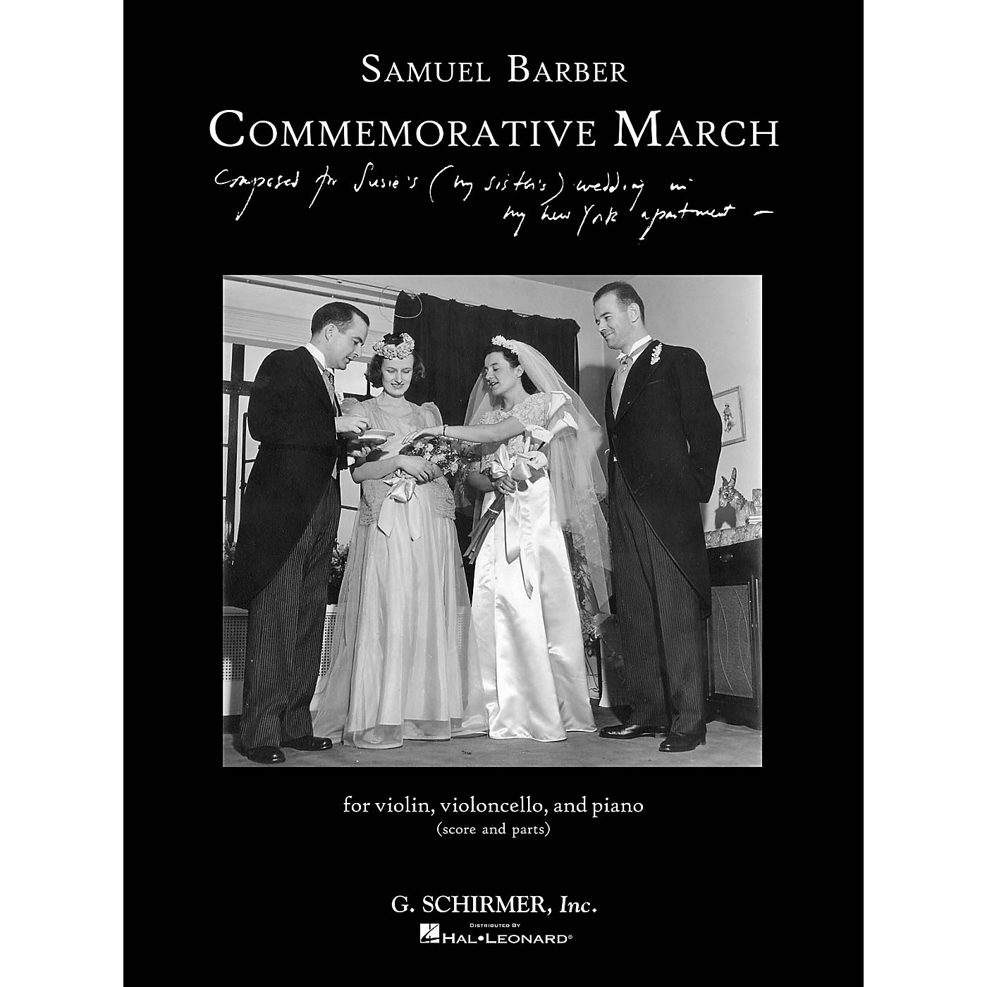 G. Schirmer Commemorative March (First Edition Piano Trio Score and Parts) Ensemble Series Softcover by Samuel Barber thumbnail
