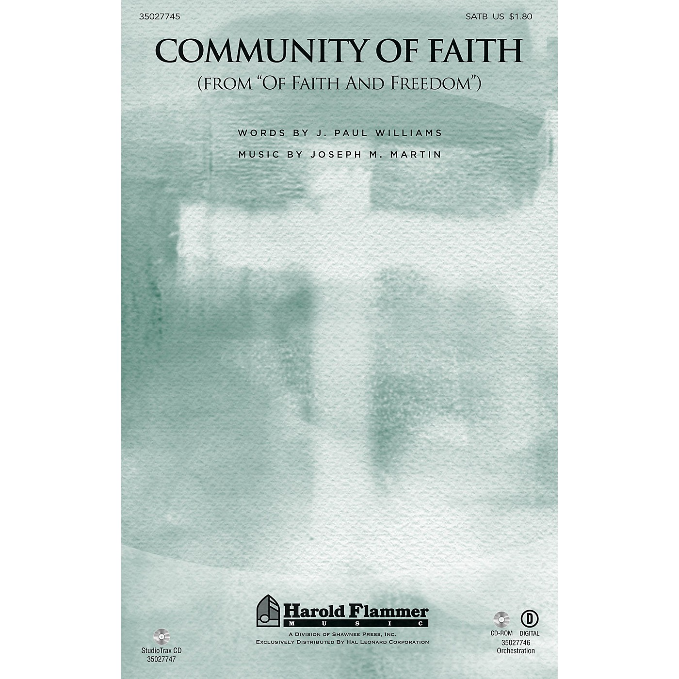 Shawnee Press Community of Faith (from Of Faith and Freedom) Studiotrax CD Composed by J. Paul Williams thumbnail