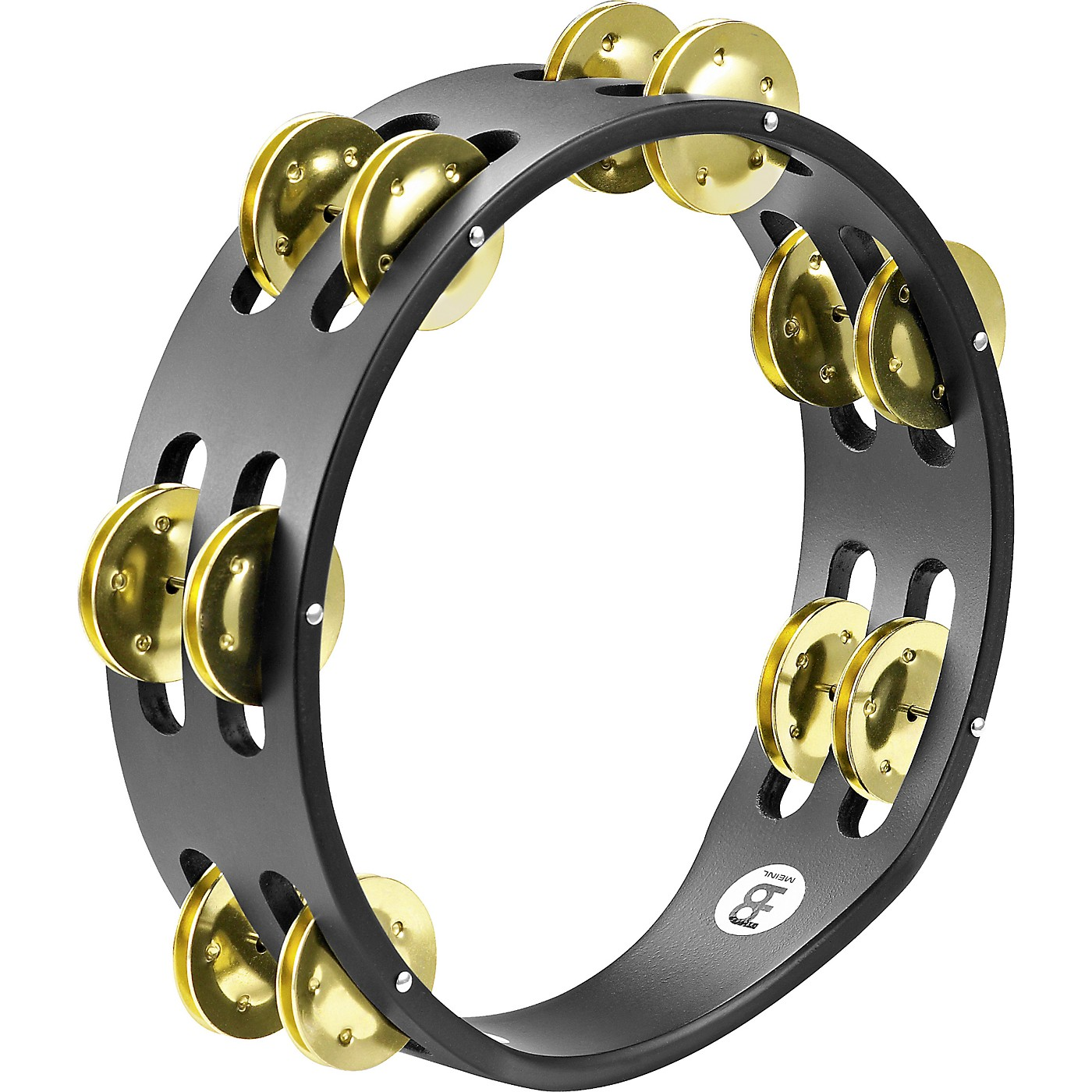 Meinl Compact Wood Tambourine Two Rows Brass Jingles thumbnail