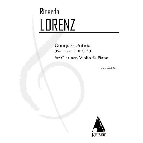 Lauren Keiser Music Publishing Compass Points (Puentos en la Brujula) for Clarinet, Violin, and Pa - Sc/pts LKM Music by Ricardo Lorenz thumbnail