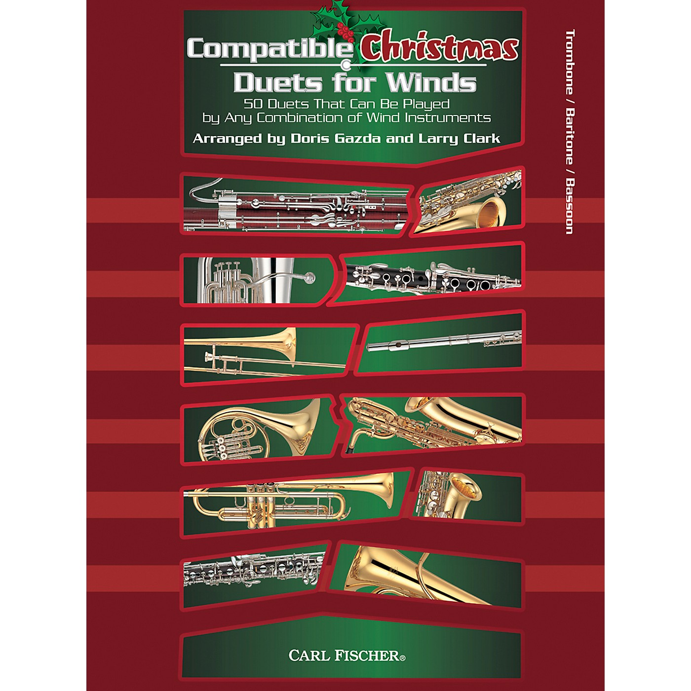 Carl Fischer Compatible Christmas Duets for Winds: Trombone / Baritone / Bassoon thumbnail