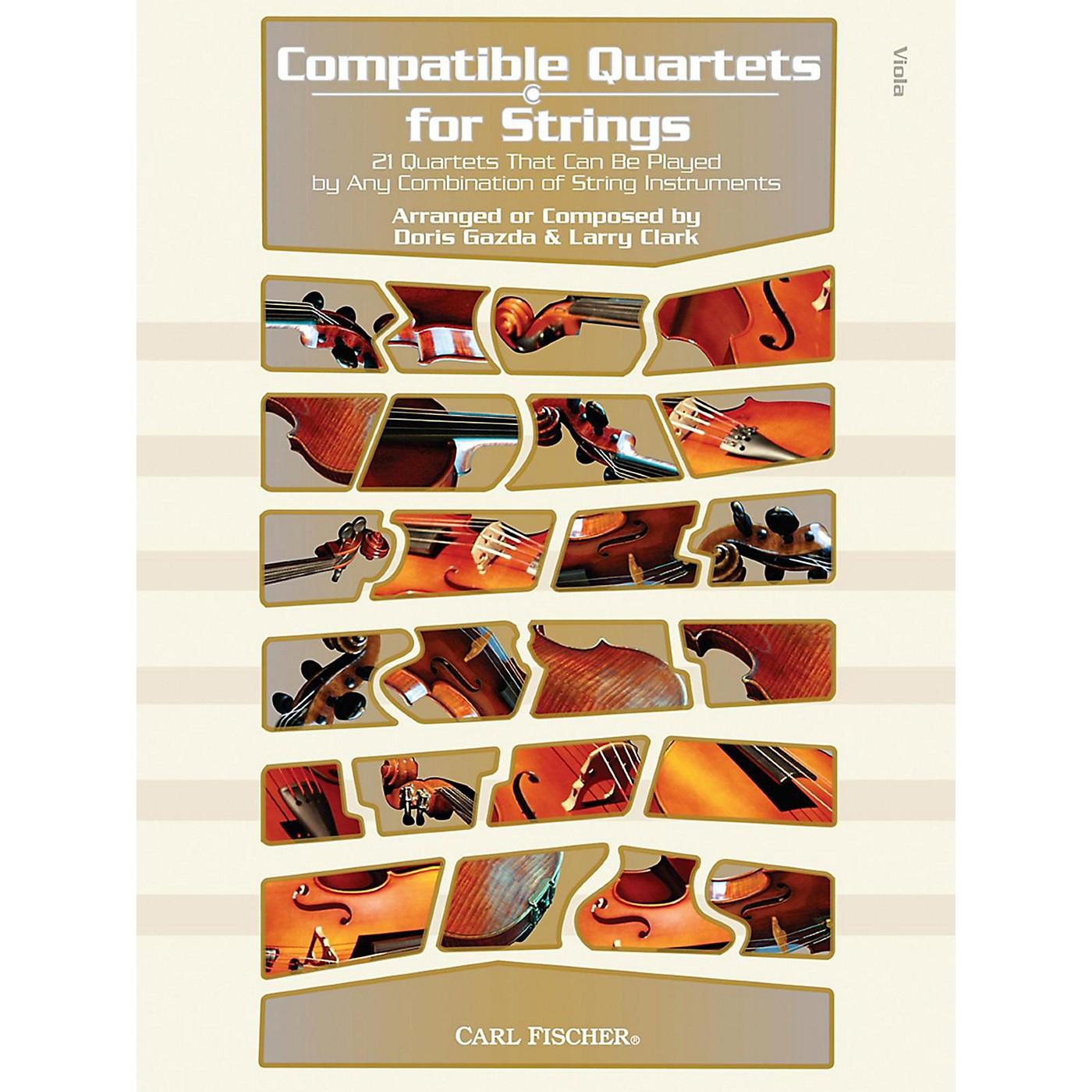 Carl Fischer Compatible Quartets for Strings Book - Viola thumbnail