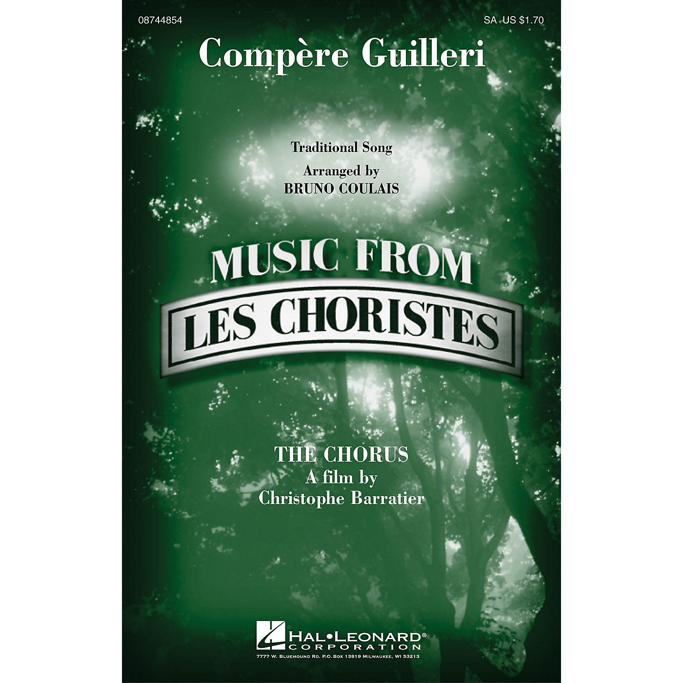 Hal Leonard Compere Guilleri (from Les Choristes (The Chorus)) SA arranged by Bruno Coulais thumbnail