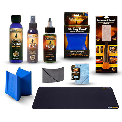 MusicNomad Complete 9-Piece Premium Guitar Care Kit thumbnail