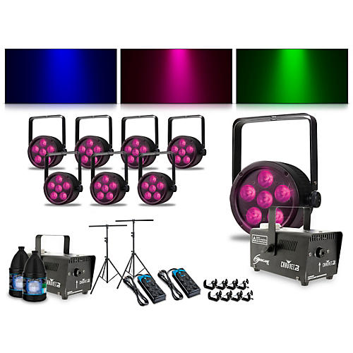 Proline Complete Lighting Package with Eight ThinTri 38 and Two Huricane 700 Fog Machines thumbnail
