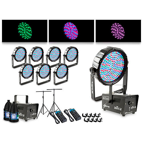Proline Complete Lighting Package with Eight Thinpar 64 and Two Huricane 700 Fog Machines thumbnail