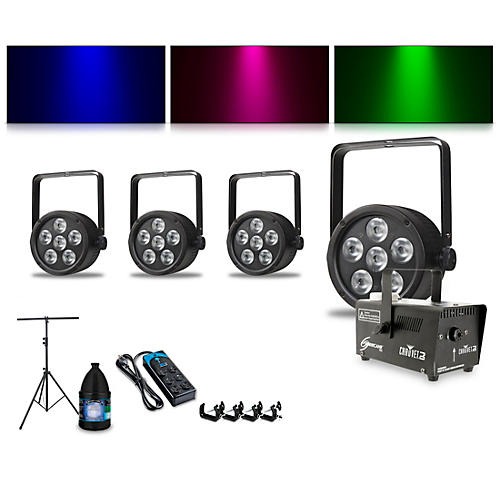 Proline Complete Lighting Package with Four ThinTri 38 and Huricane 700 Fog Machine thumbnail