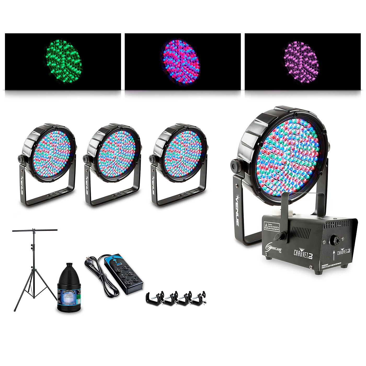 Proline Complete Lighting Package with Four Thinpar64 and Huricane 700 Fog Machine thumbnail