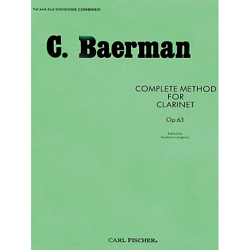 Carl Fischer Complete Method For Clarinet Op.63 - Parts 1 & 2 thumbnail
