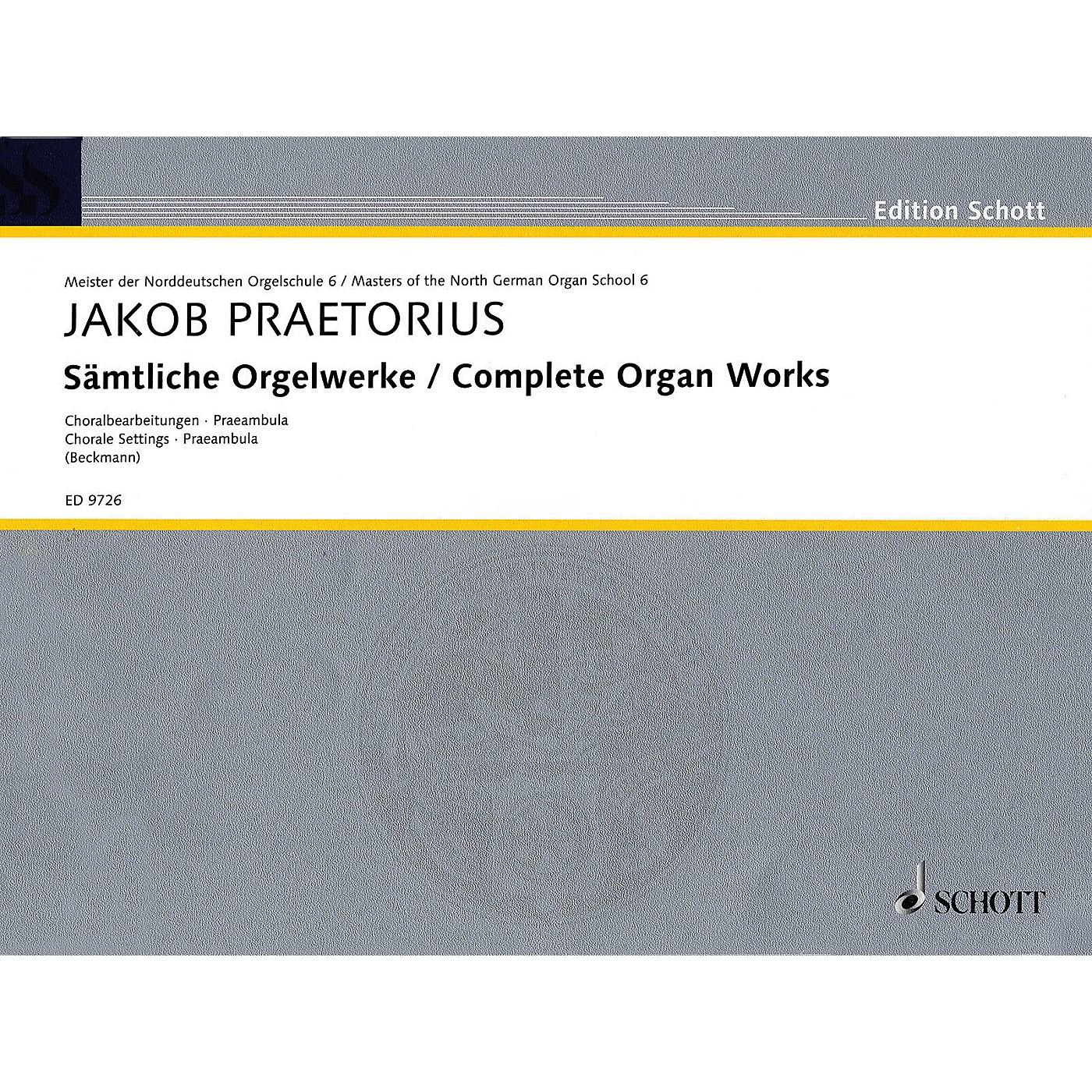 Schott Complete Organ Works - Chorale Settings, Praembula Schott Series Composed by Jakob Praetorius thumbnail