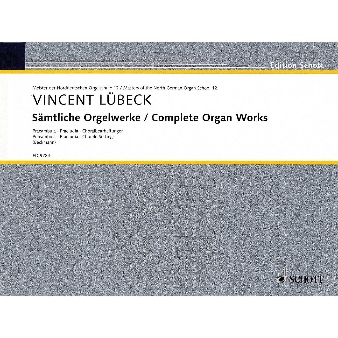 Schott Complete Organ Works - Praembula, Praeludia, Chorale Settings Schott Series thumbnail