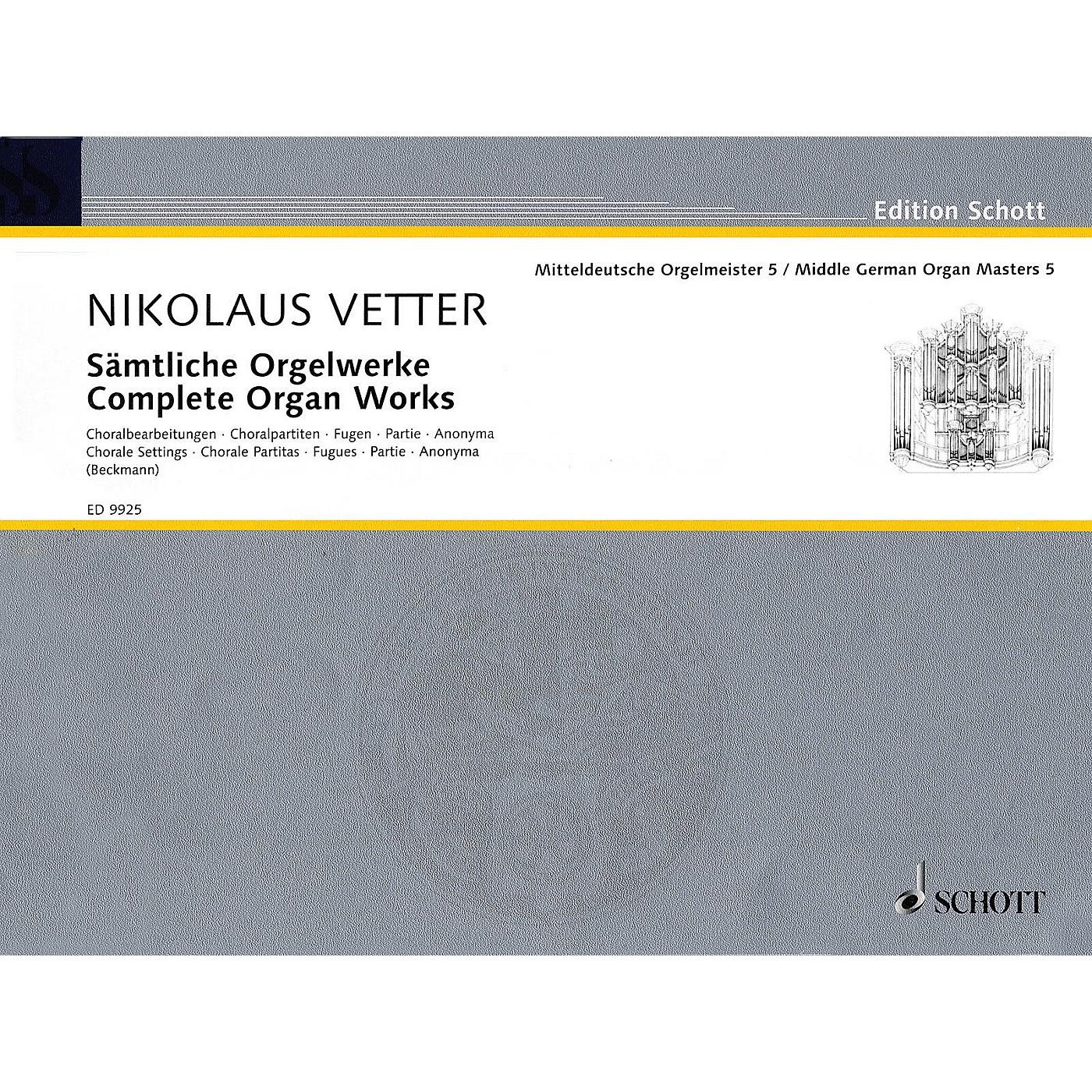 Schott Complete Organ Works (Middle German Organ Masters, Volume 5) Organ Collection Series thumbnail