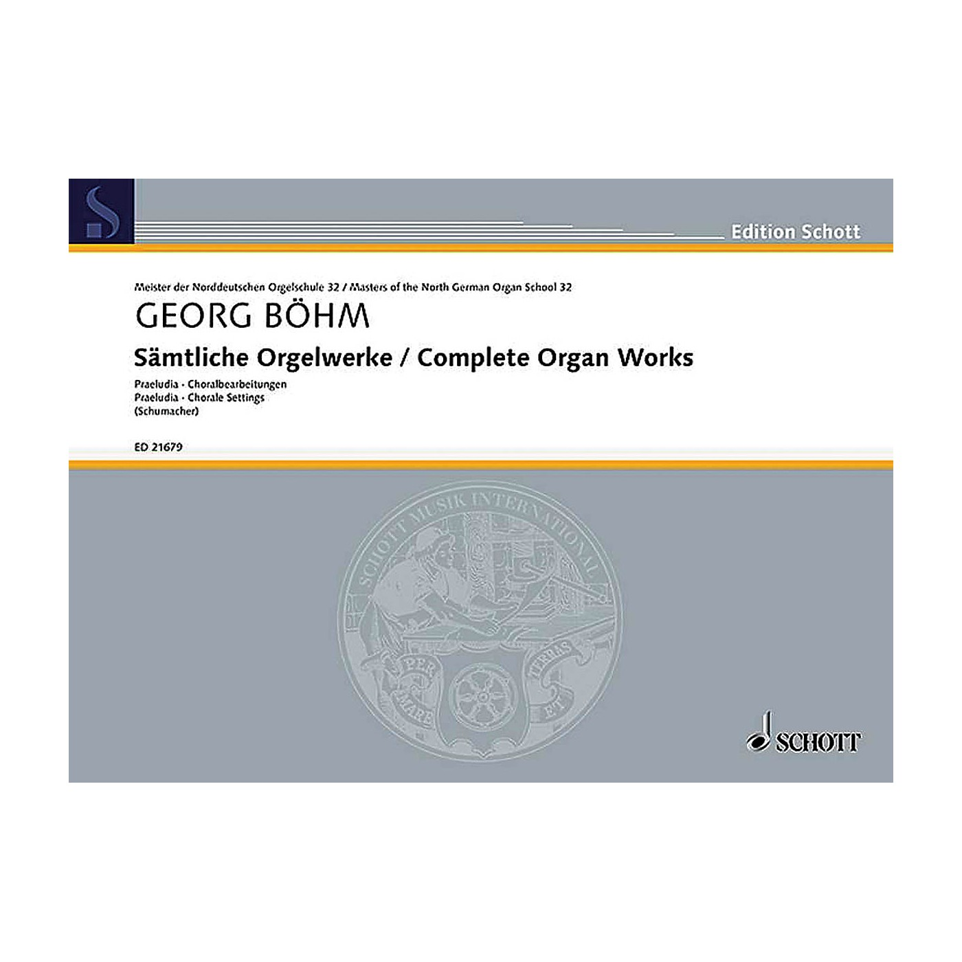 Schott Complete Organ Works Organ Collection Series Softcover thumbnail