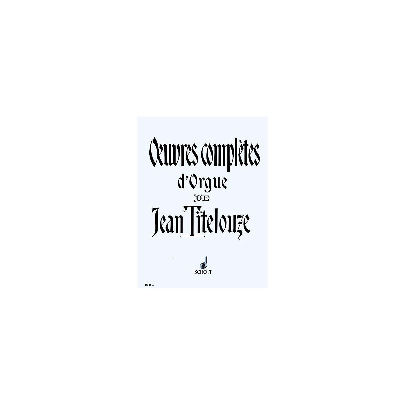 Schott Complete Organ Works of Jean Titelouze Schott Series thumbnail