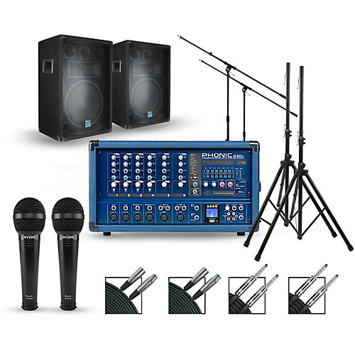 Phonic Complete PA Package with Powerpod 630R Plus Mixer and Gemini GSM Speakers thumbnail
